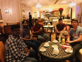 Personal Meet with HELO APP Business Head in Leela Palace